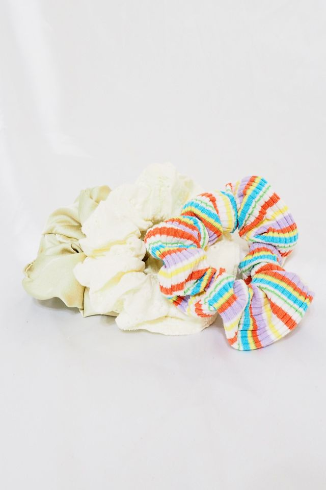 Scrunchies Set (Rainbow Knit)