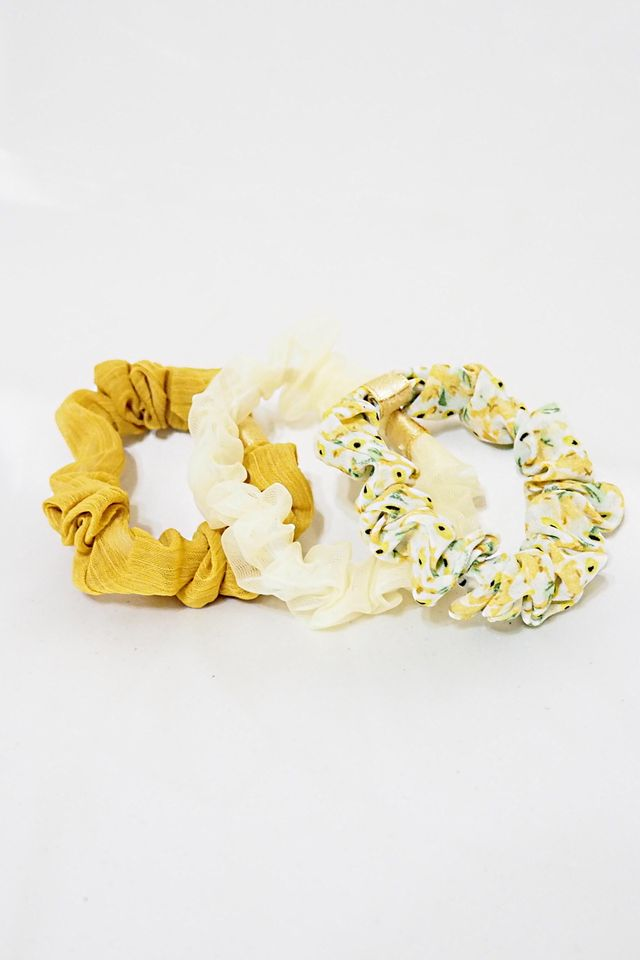 Scrunchies Set (Yellow Minis)