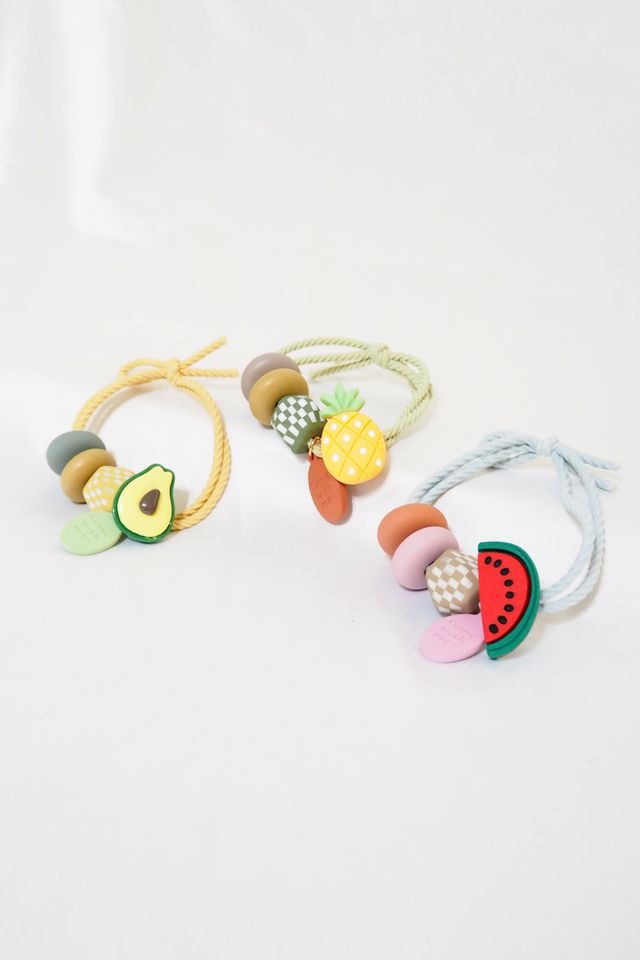 Fruity Hair Ties Set
