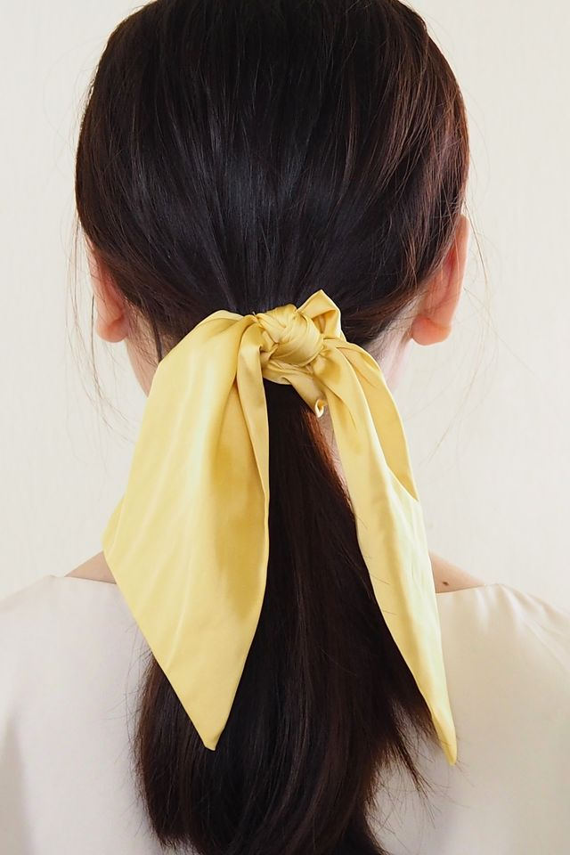 Ribbon Scrunchie (Creamy Yellow)