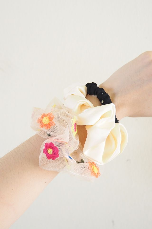 Scrunchies Set (Organza Flora)
