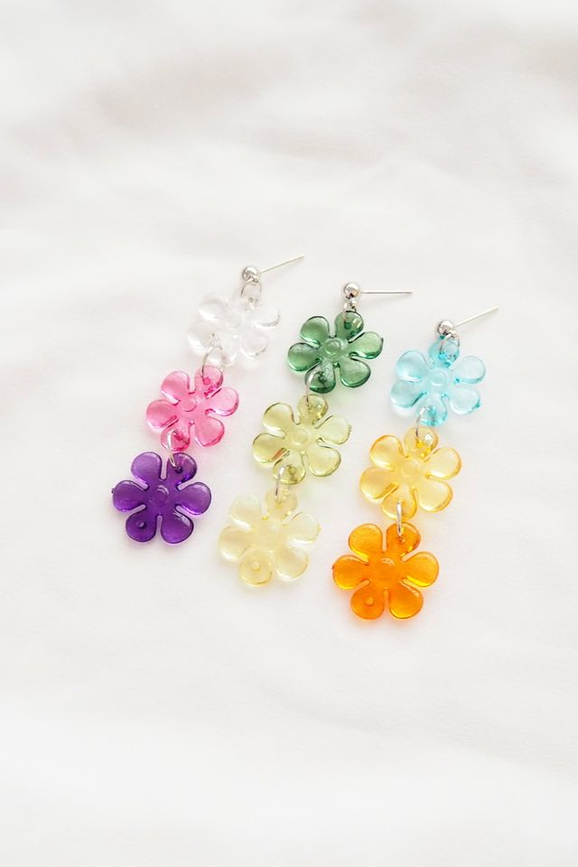 Flower Power Earstuds (Orange)