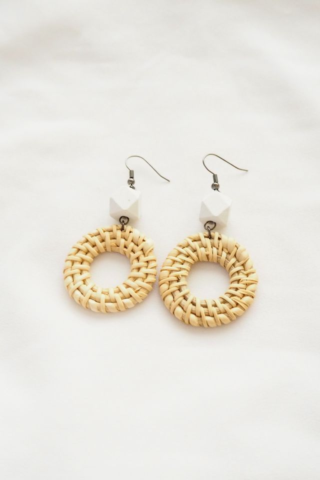Hollow Round Rattan Earrings