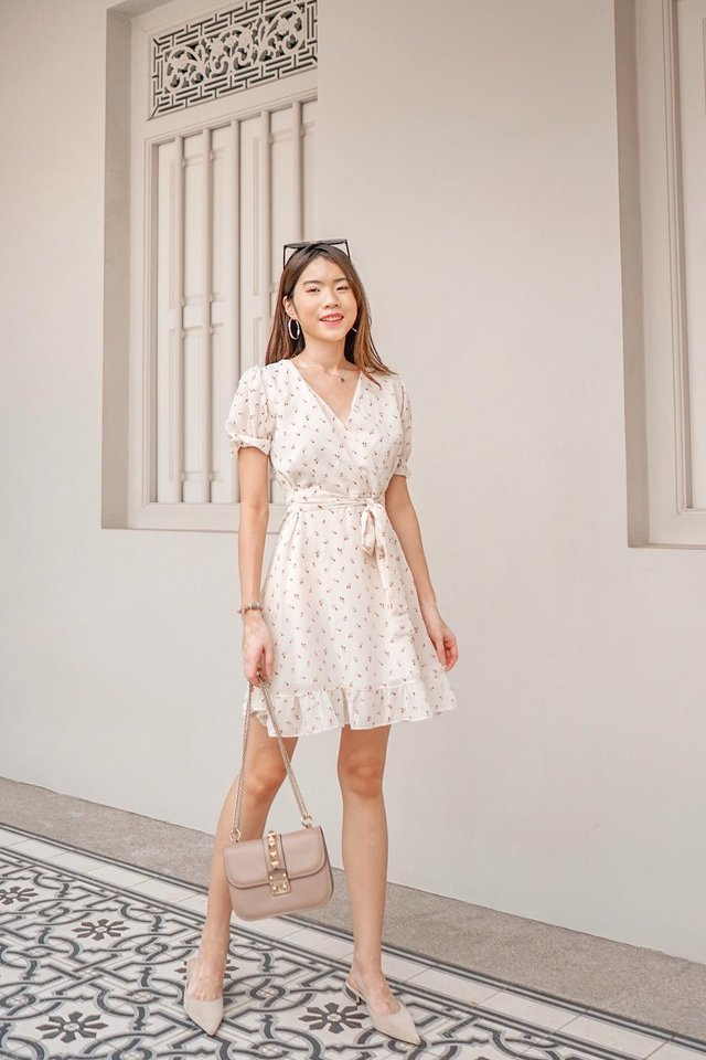 Mini Flowers Dress (White)