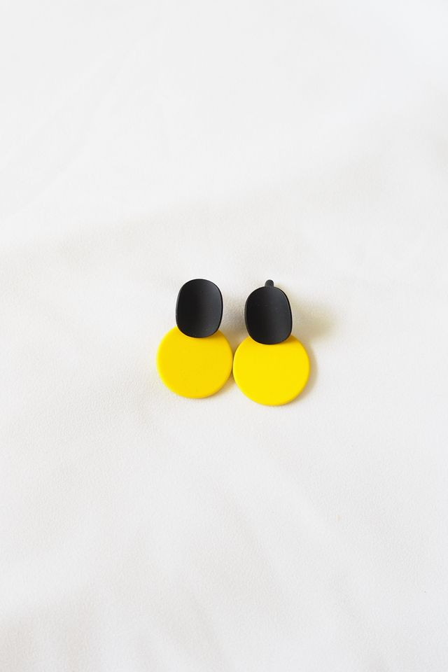 Mini Colourblock Earstuds (Yellow)