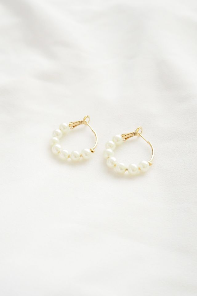 Mini Pearl Hoops