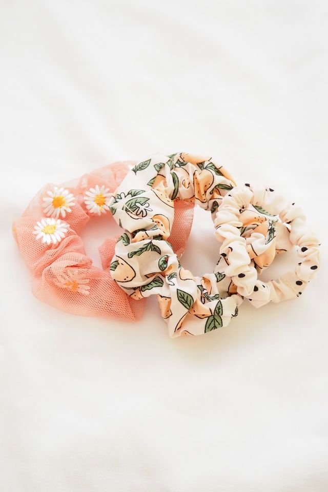 Scrunchies Set (Grapefruit)