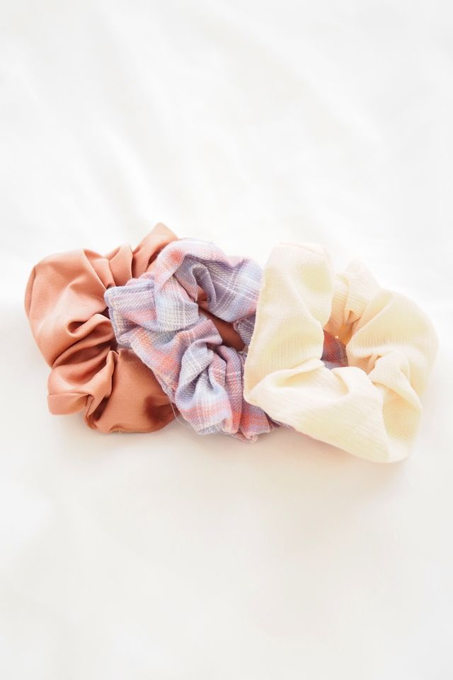 Scrunchies Set (Girly Plaid)