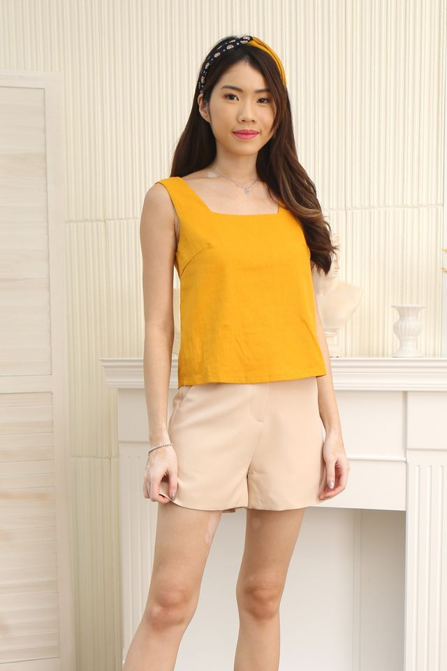 Square Neck Top (Mustard)