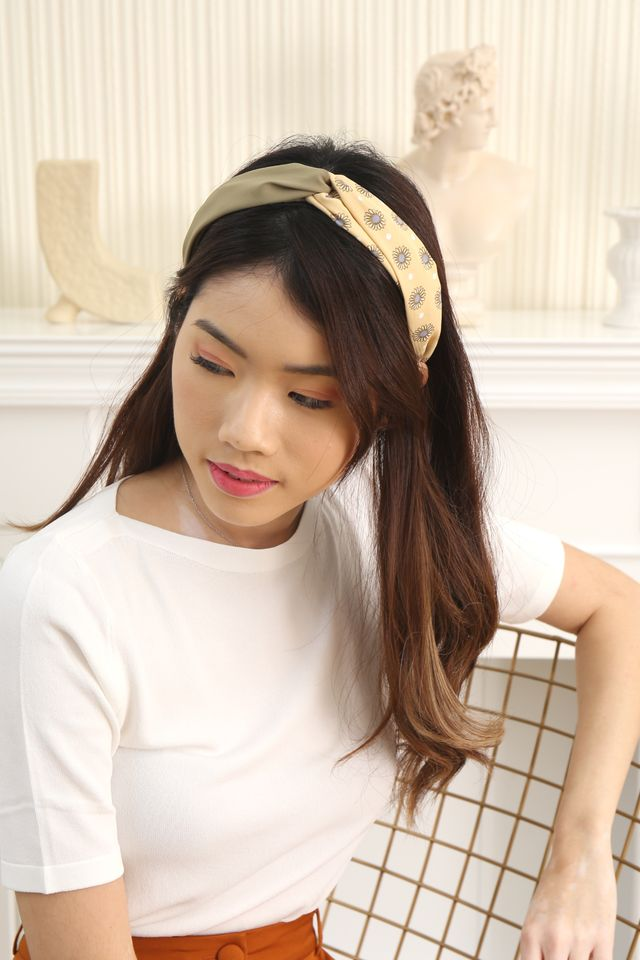Sunflower Duo Colour Headband (Olive)