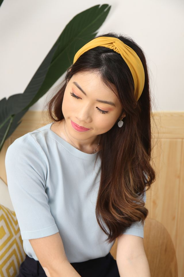 Basic Twist Headband (Mustard)