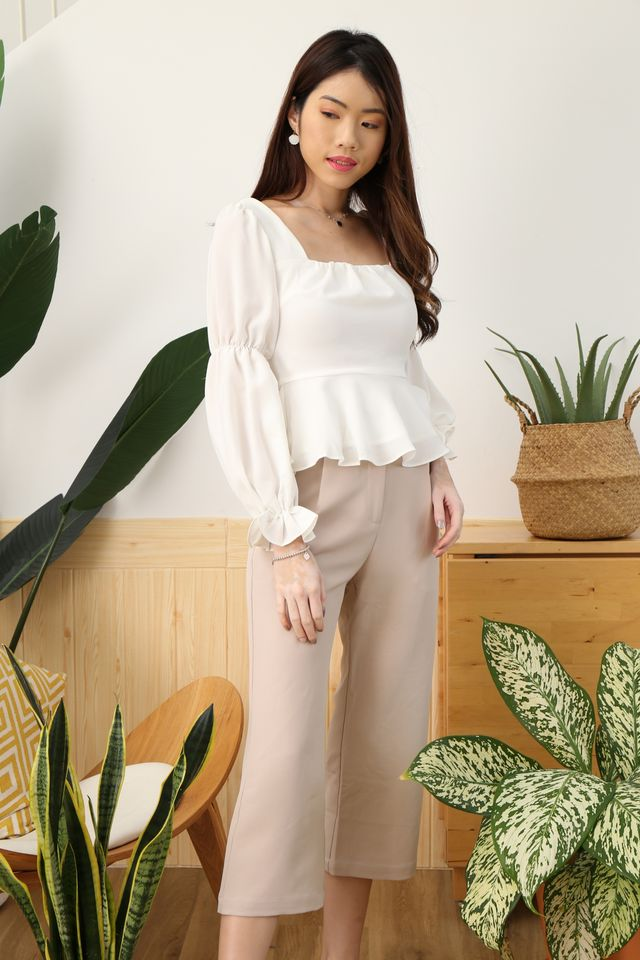 Puffy Princess Top in White [L/XL]