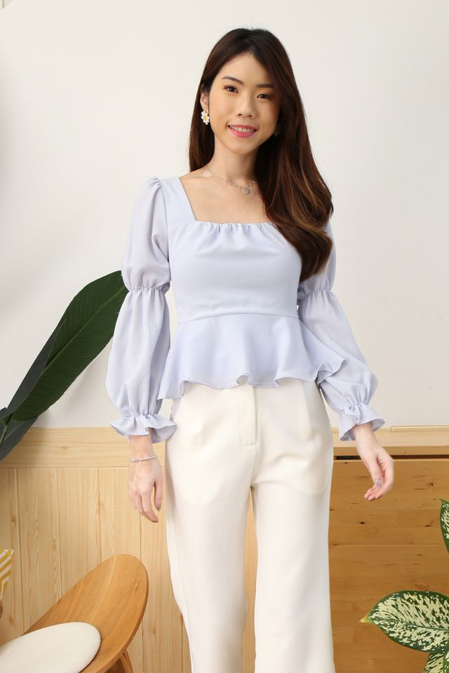 Puffy Princess Top in Periwinkle