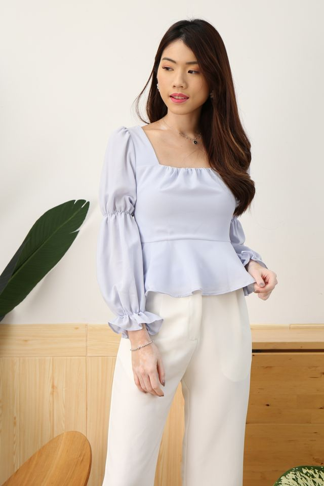 Puffy Princess Top in Periwinkle [M/XL]