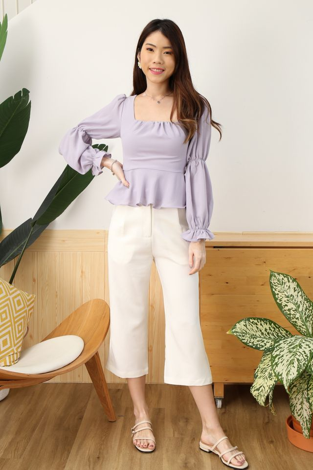 Puffy Princess Top in Lilac [S/M/XL]