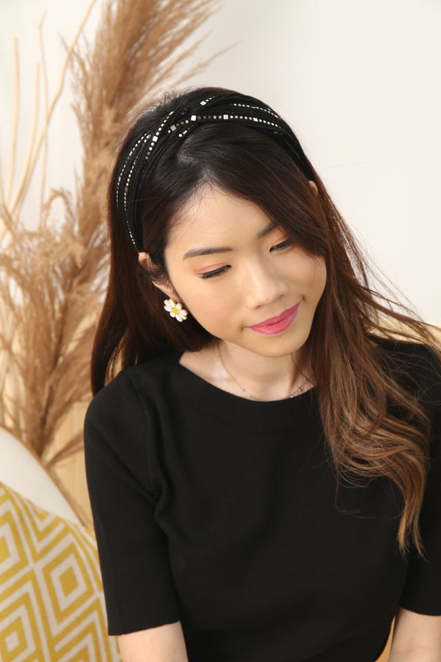 Shimmery Headband (Black)