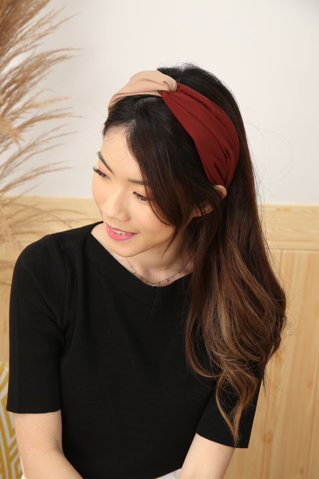 Duo Tone Headband (Maroon)