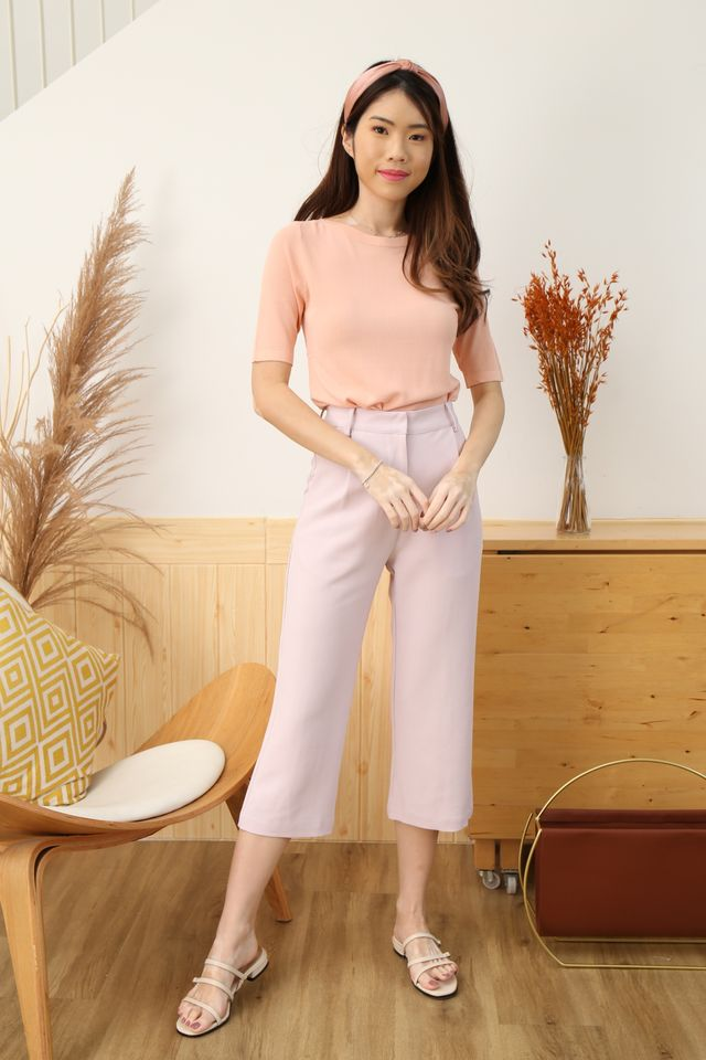 Boat Neck Knit (Baby Pink)