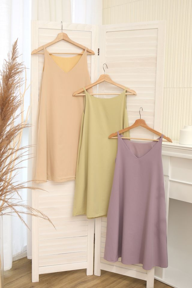 Two Way Trapeze Dress (Beige)
