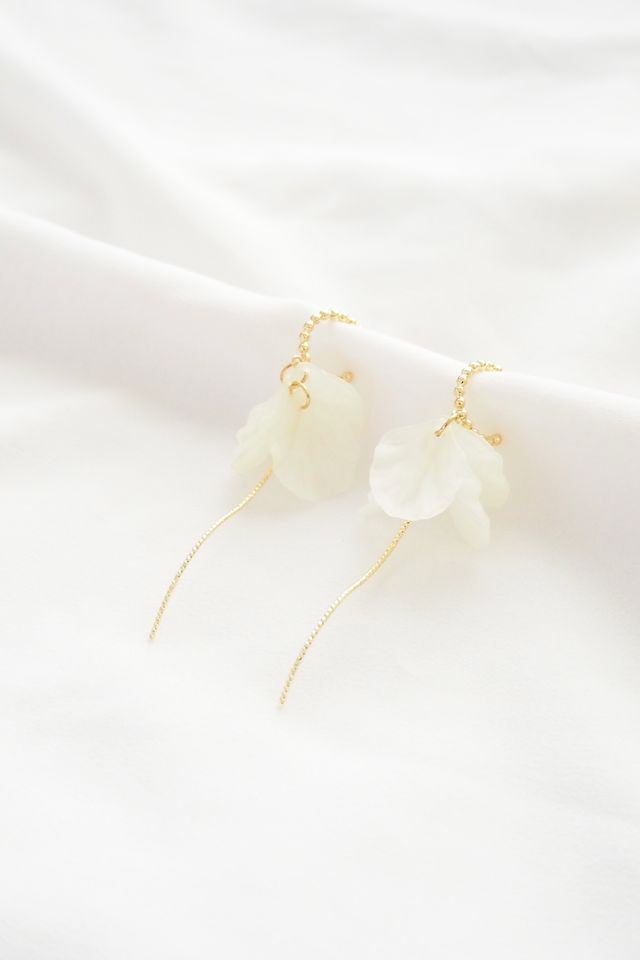 Petal Dangle Mini Hoops
