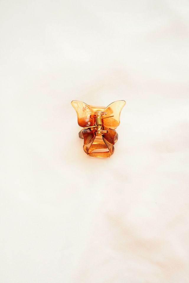 Small Butterfly Clip (Brown)