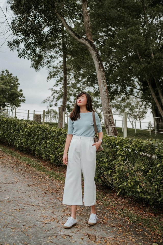 Rhee Culottes in White