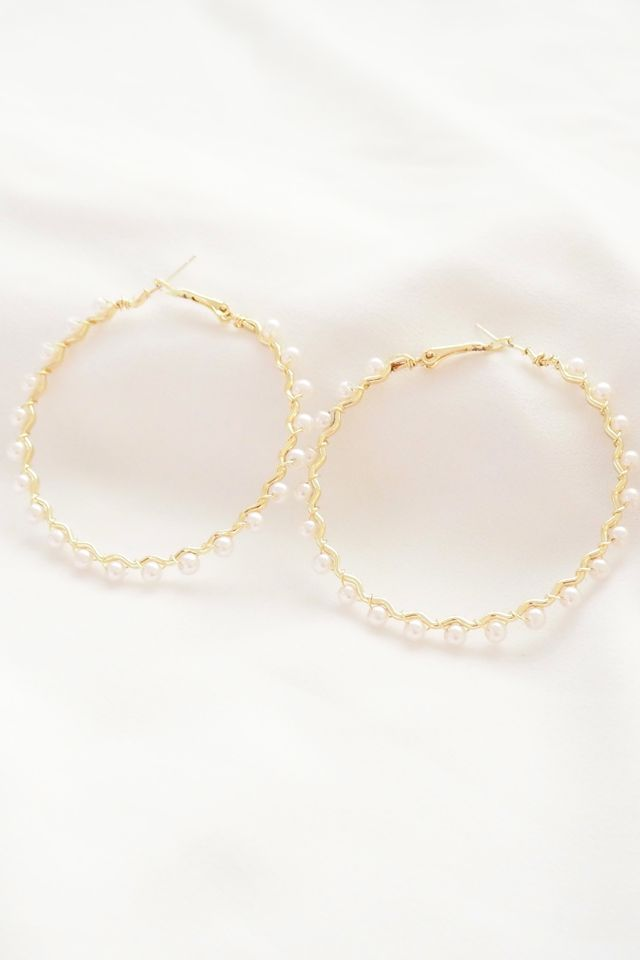 Pearl All Over Hoops