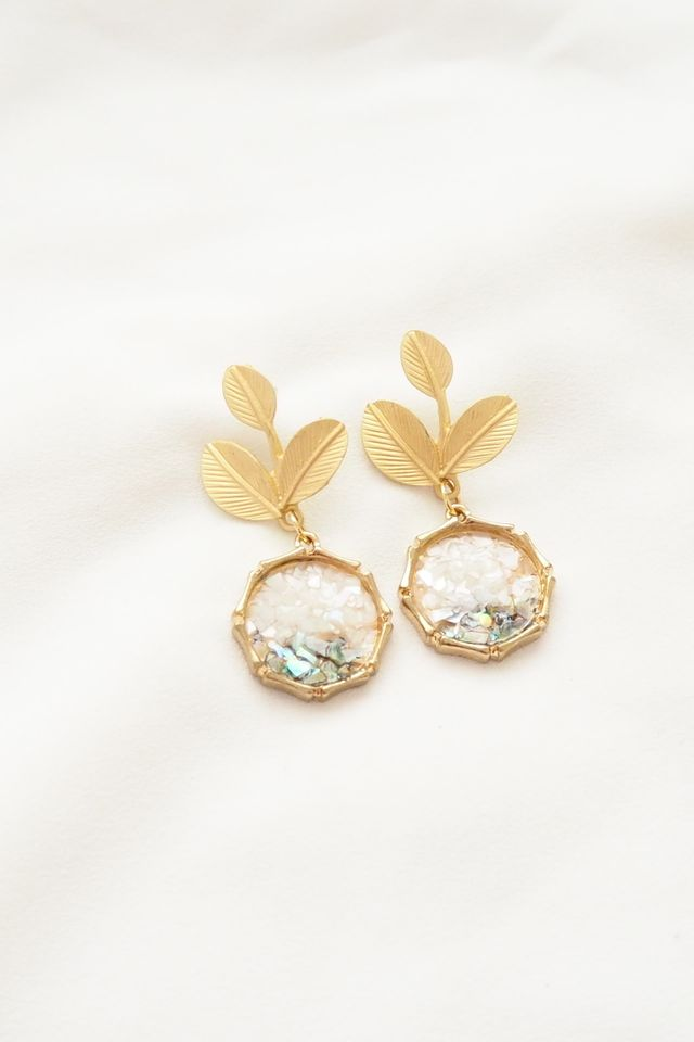 Ari Leafy Dangle Earstuds