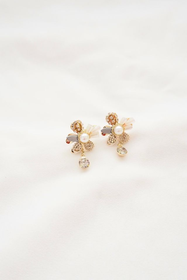 Two Way Flower Earstuds