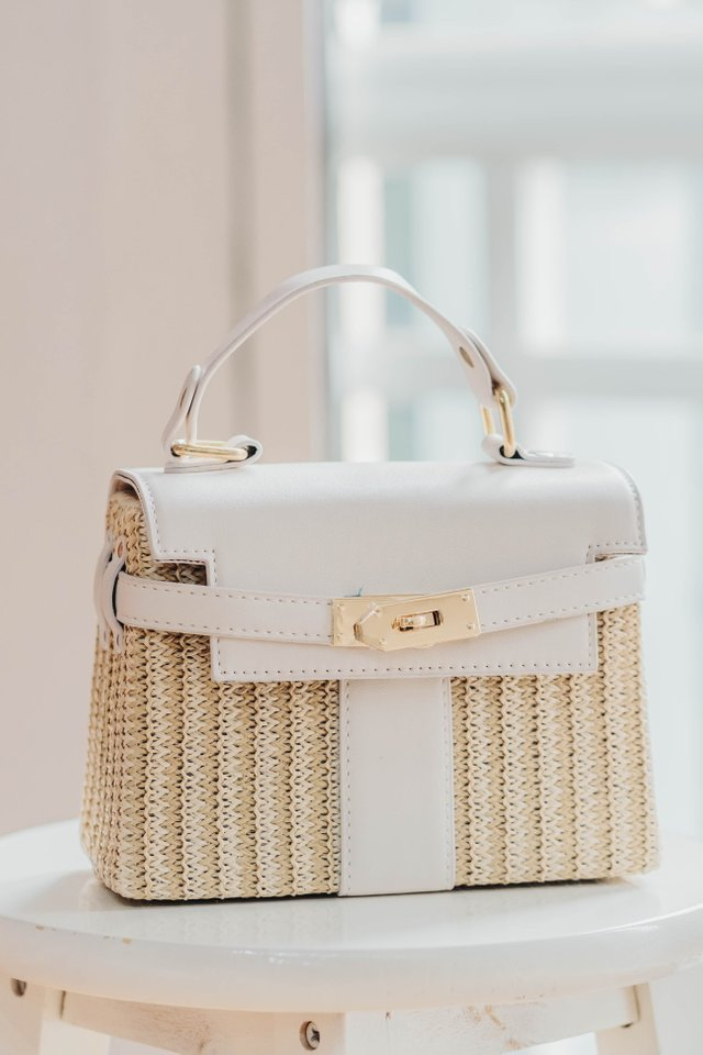 *BACKORDER* Weave Bag in White