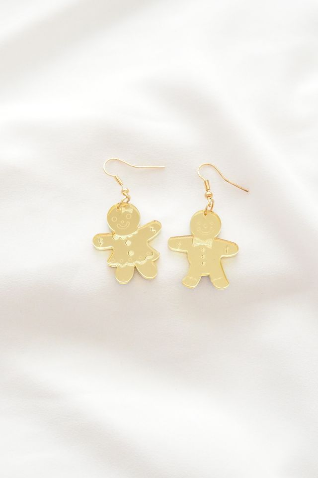 Gingerbread Boy & Girl Earstuds