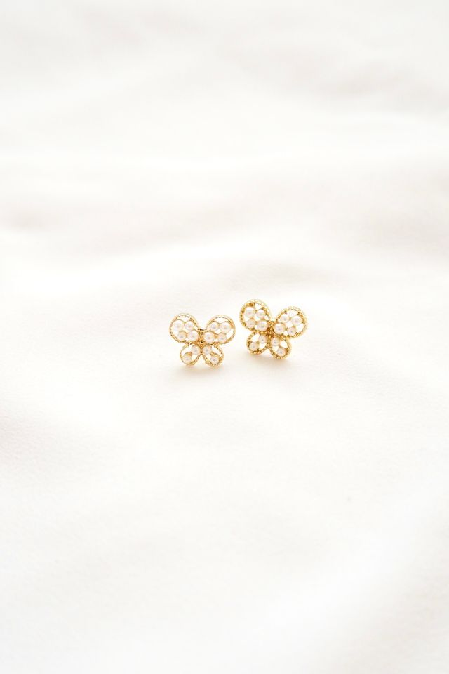 Pearly Butterfly Earstuds