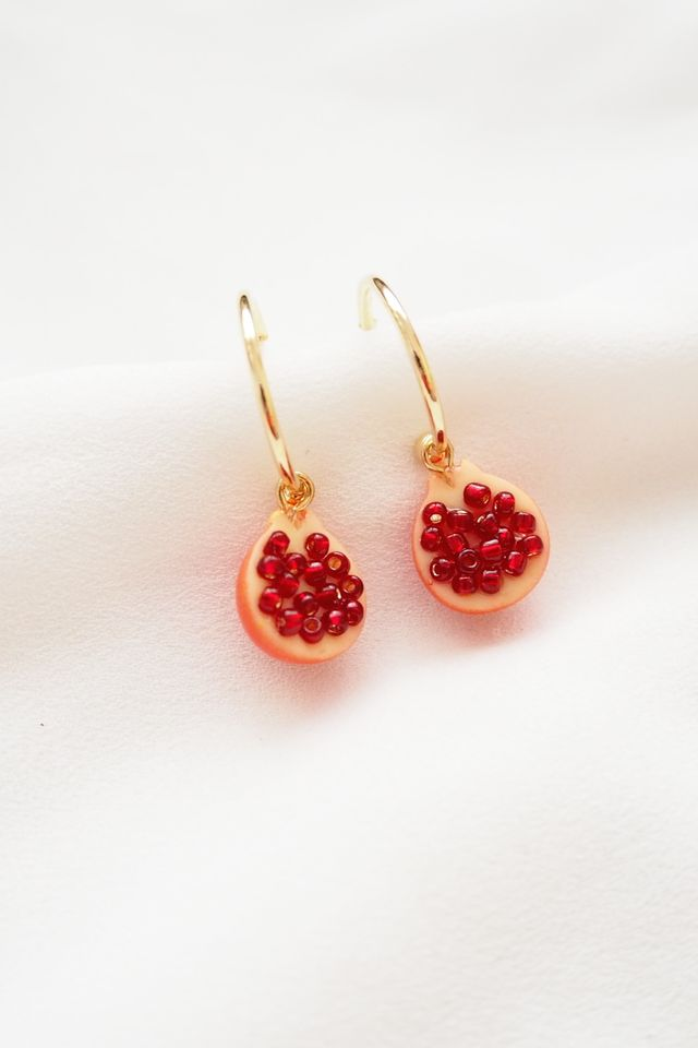Pomegranate Hoops
