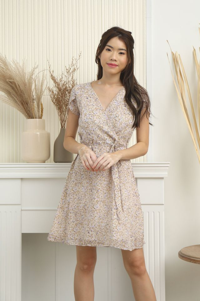Kinsley Floral Dress in Lilac
