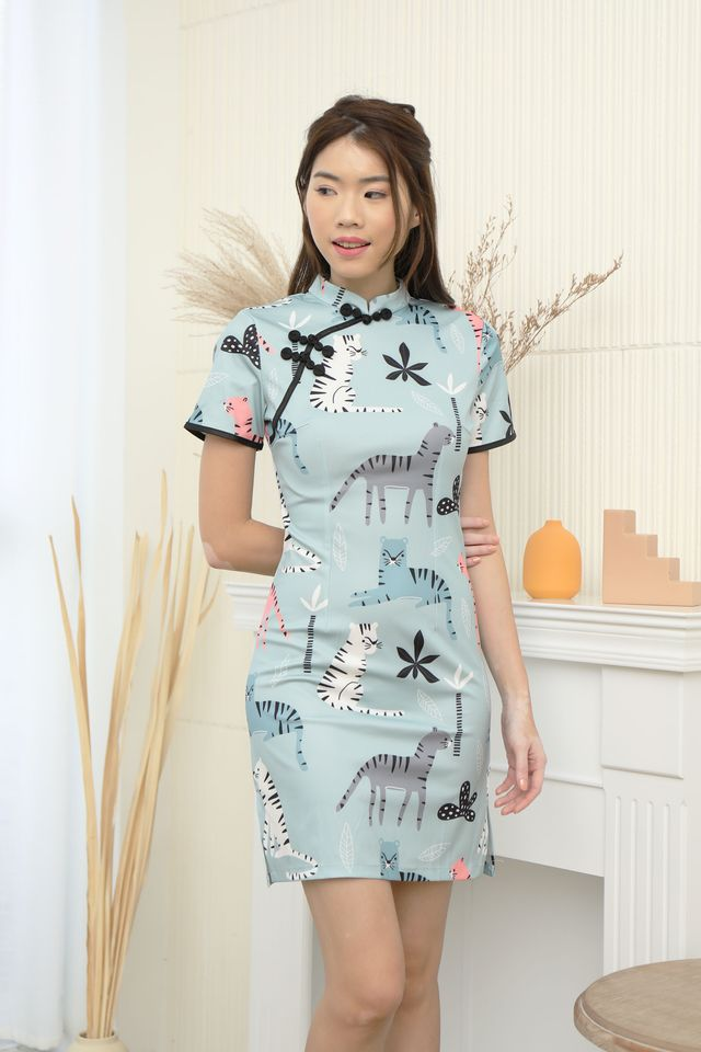 Cute Cheongsam Dress in Rainforest