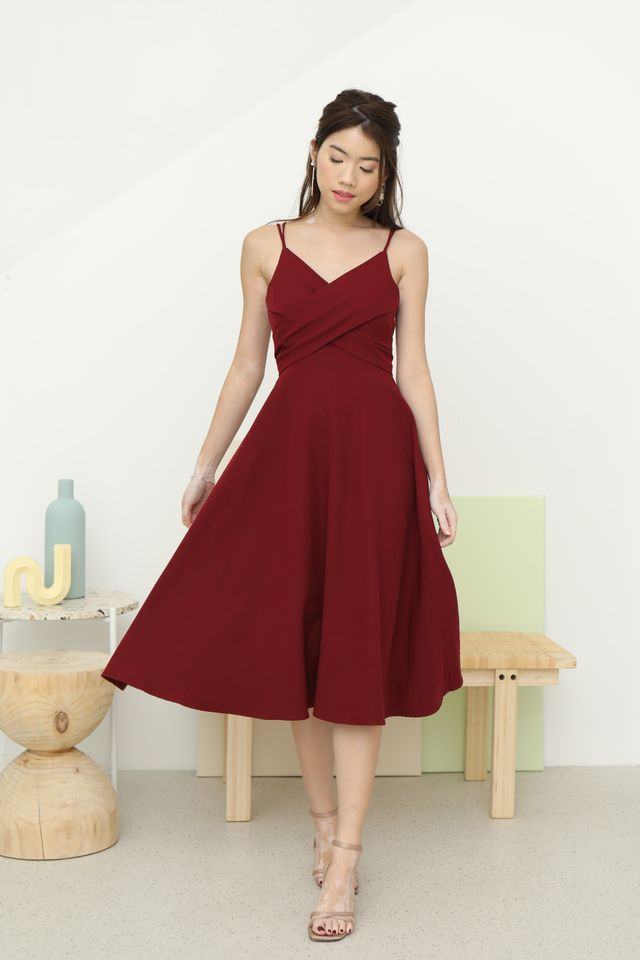 Edelle Wrap Dress in Wine
