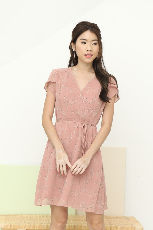 Ciel Floral Dress in Pink