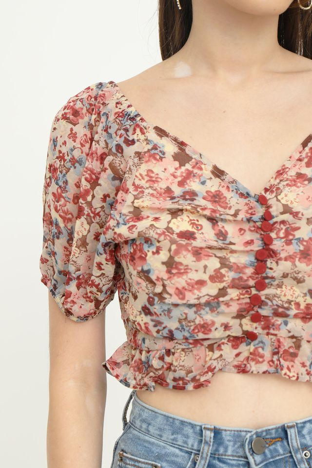 Floral Two Way Cropped Top
