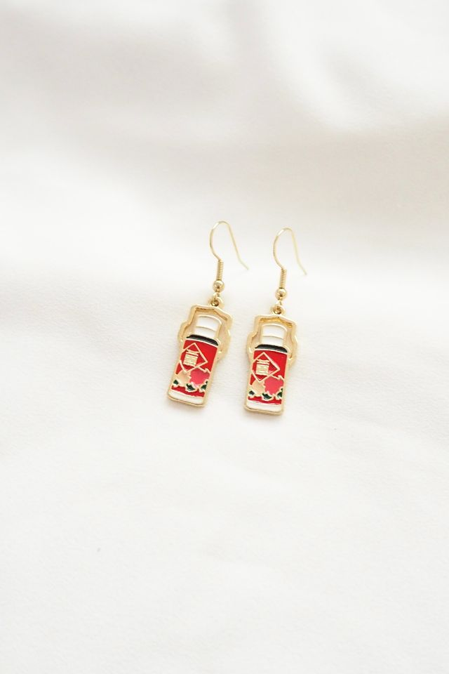 Retro Flask Earrings