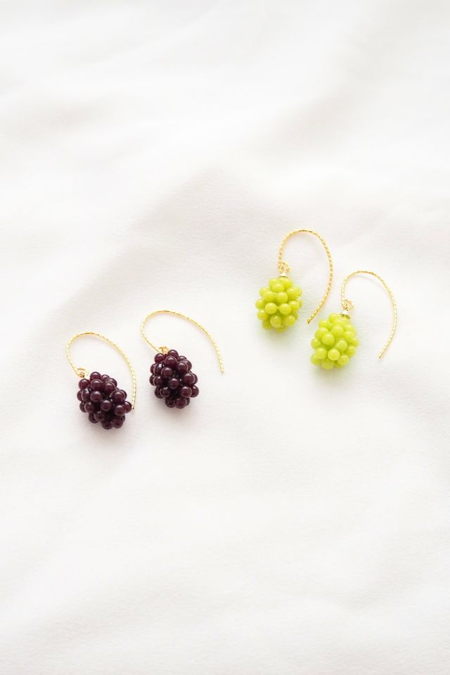 Purple Grapes Earrings