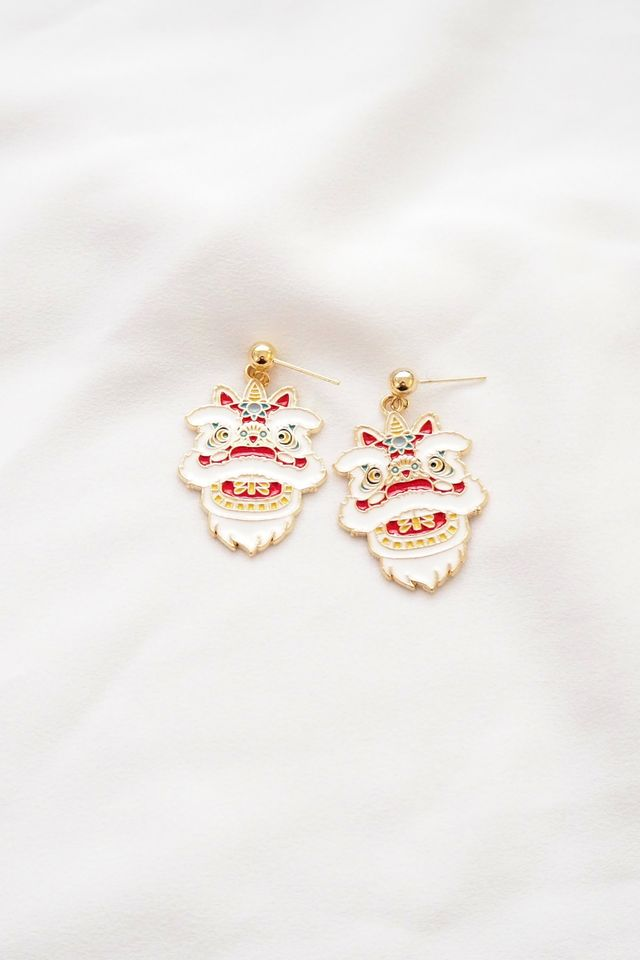 *BACKORDER* Lion Dance Earstuds