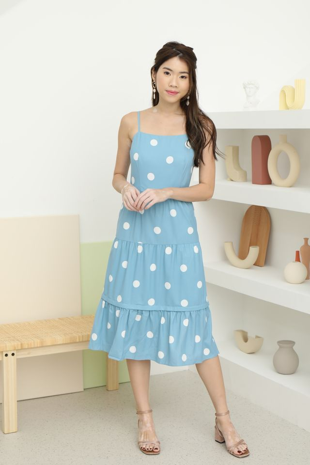 Dotty Midi in Blue