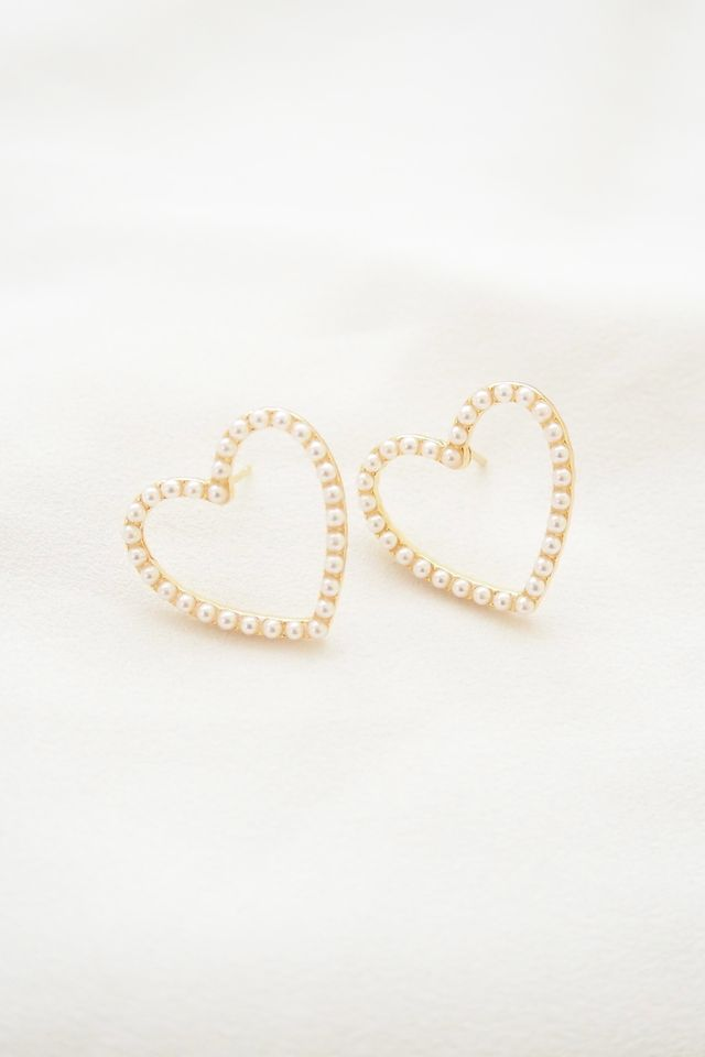 Pearly Heart Earstuds