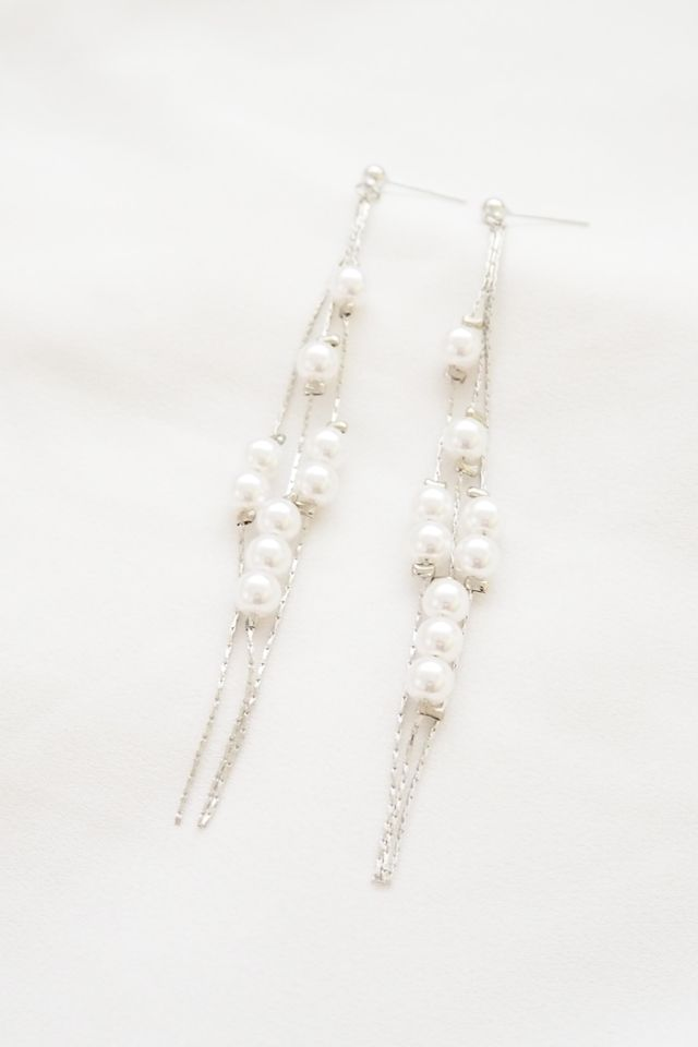 Harie Pearl Layered Earstuds in Silver
