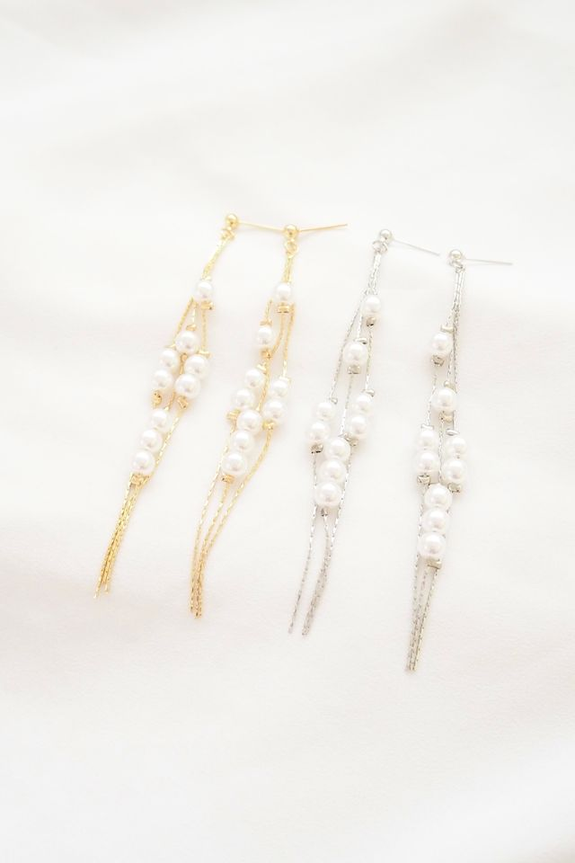 Harie Pearl Layered Earstuds in Gold