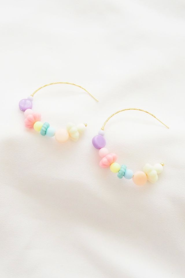 Rainbow Mix Hoops (8)